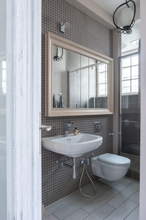 Apartament na Mokotowie: styl , w kategorii Łazienka zaprojektowany przez Jacek Tryc-wnętrza