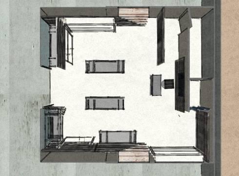 Pianta: Negozi & Locali commerciali in stile  di Studio Arch. Matteo Calvi