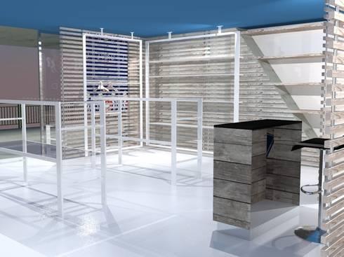 Vista interna 03: Negozi & Locali commerciali in stile  di Studio Arch. Matteo Calvi