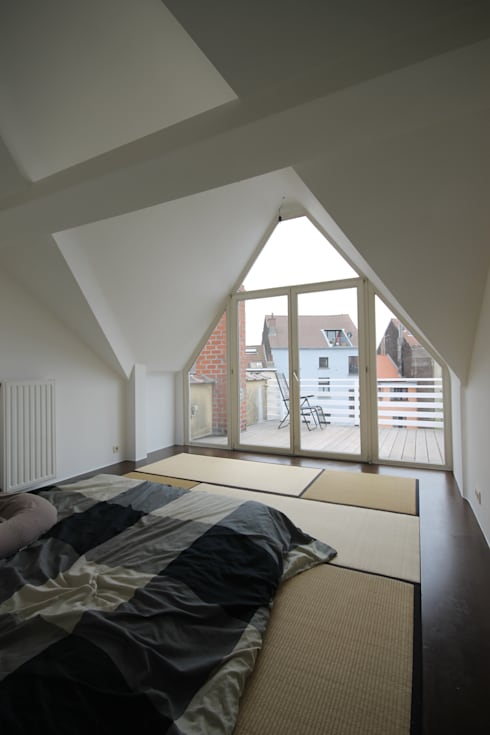 Bedroom by ici architectes sprl