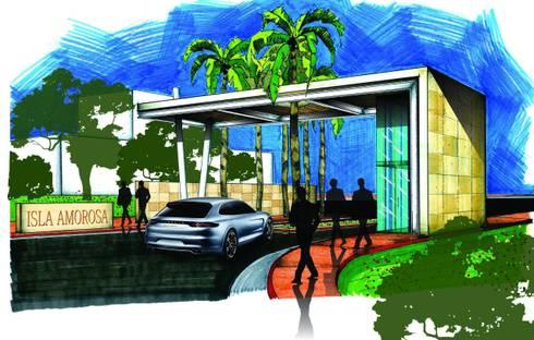 Motivo de Acceso: Casas de estilo minimalista por VSA + ARQUITECTURA
