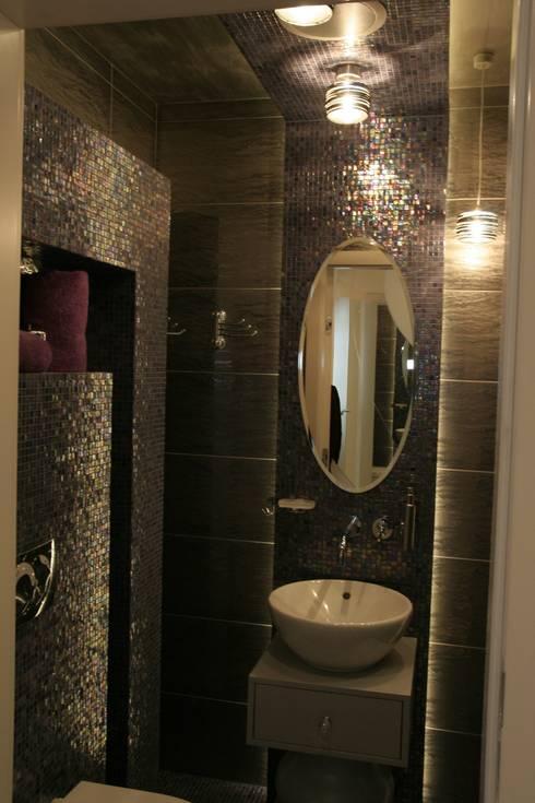 eclectic Bathroom by Art&Design Studio Projektowe Kinga Śliwa