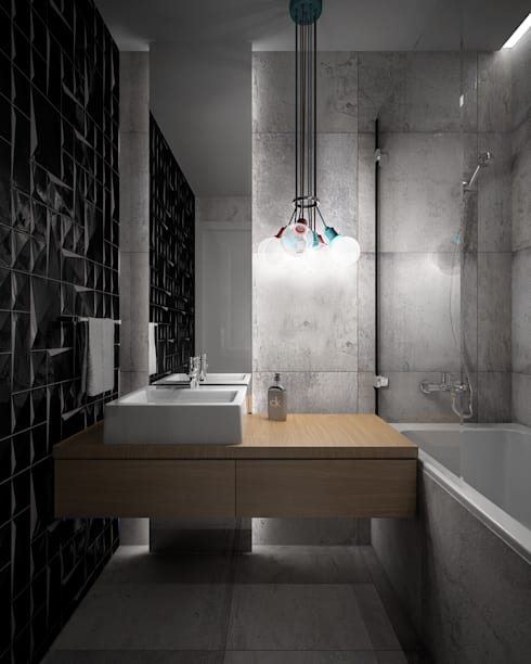 Wiktoria Ginter - architektura wnętrz: modern tarz Banyo
