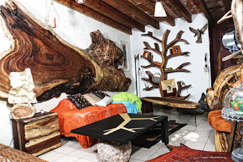 Recamara: Salas de estilo rústico por Cenquizqui