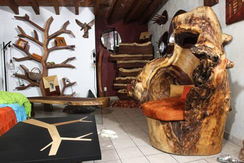 Trono y accesorios: Recámaras de estilo rústico por Cenquizqui