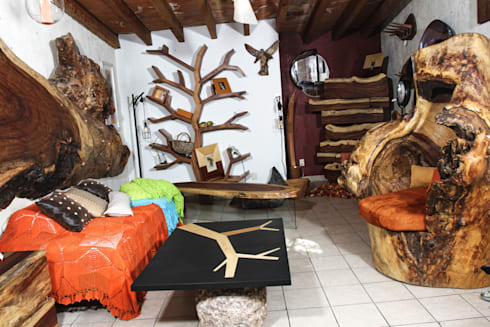Recamara: Vestidores y closets de estilo rústico por Cenquizqui