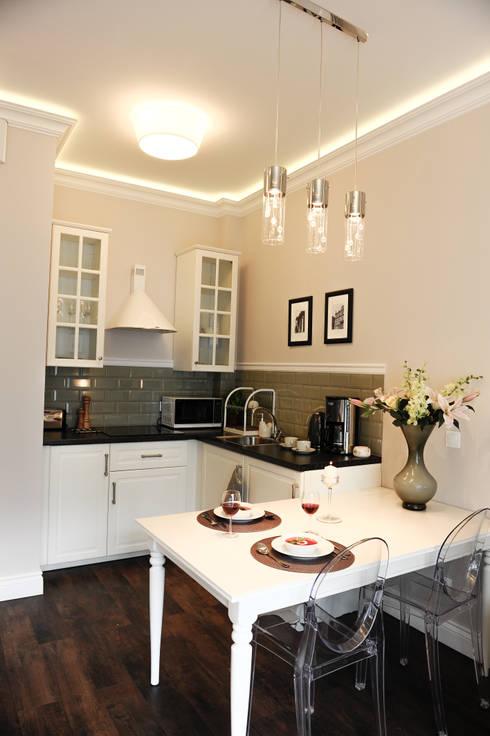 Apartament Novum: styl , w kategorii Kuchnia zaprojektowany przez AgiDesign