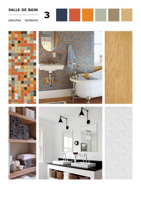 Planche tendance N°3: Salle de bain de style de style Moderne par Agence Ideco
