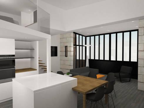 Rénovation D'Un Duplex Et Extension Au Coeur De Bordeaux By Agence