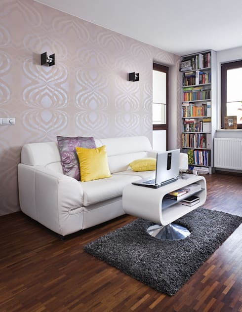 przytulne 40 m2: styl , w kategorii Salon zaprojektowany przez ZIZI STUDIO Magdalena Latos
