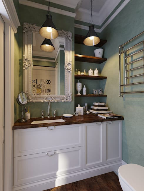 industrial Bathroom by Aiya Design