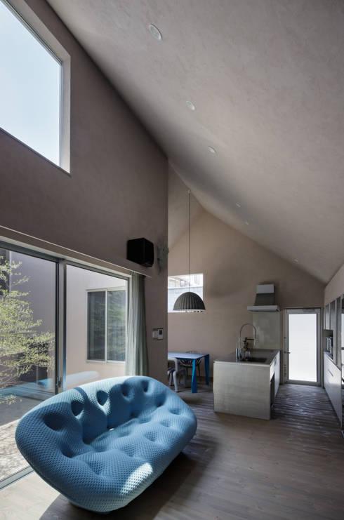 Elephant House: Hiromu Nakanishi Architectsが手掛けたリビングです。