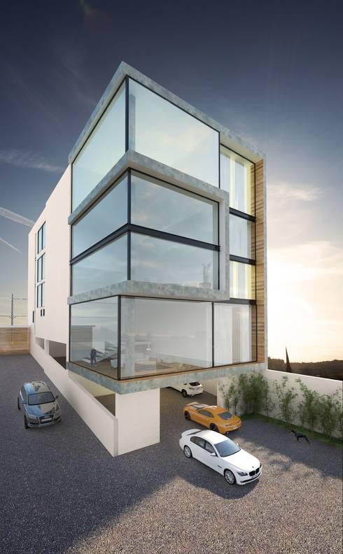 Departamentos TEPETATE: Casas de estilo moderno por Taller Habitat Arquitectos