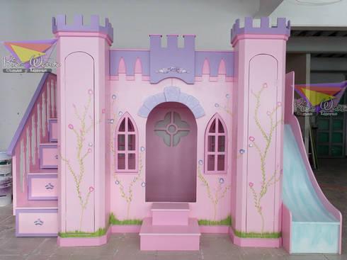 Hermoso castillo para princesas: Habitaciones infantiles de estilo  por camas y literas infantiles kids world