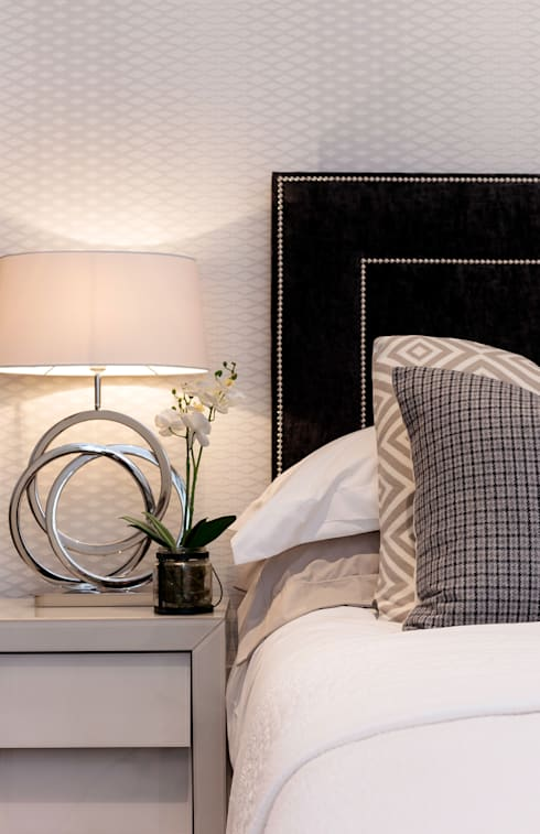 Master bed:  Bedroom by WN Interiors of Poole in Dorset