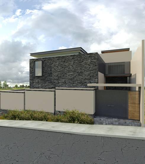 Casa EF: Casas de estilo  por Taller Habitat Arquitectos