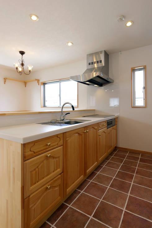 見せたがらない家: 有限会社タクト設計事務所が手掛けたキッチンです。