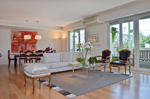 Piso en Palermo I: Livings de estilo moderno por GUTMAN+LEHRER ARQUITECTAS