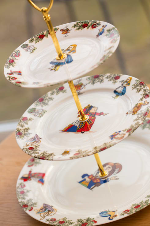 Alice In Wonderland 3 Tier Cake Stand:  Dining room by The Alice Boutique