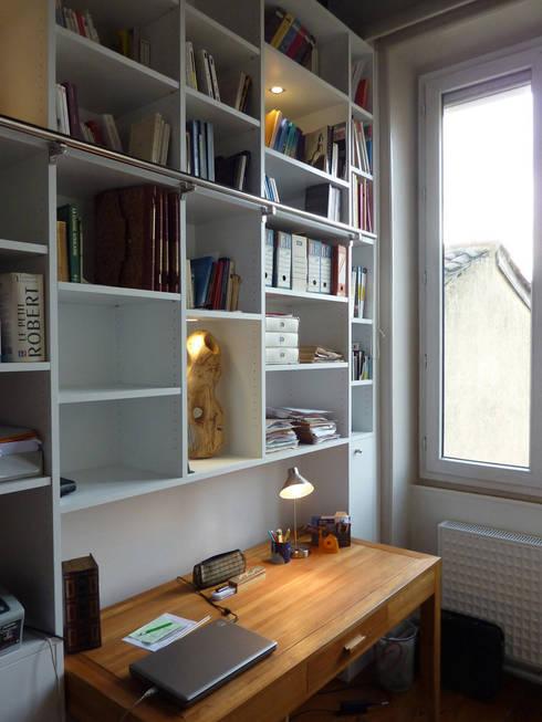Projekty,  Domowe biuro i gabinet zaprojektowane przez Franck Vadot Architecture