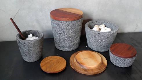 Especieros San Lucas: Cocina de estilo  por piedrafuego