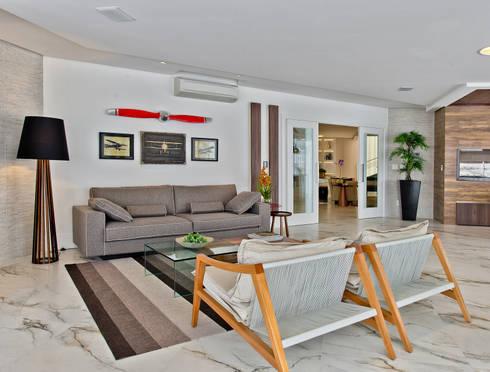 Espaço gourmet: Salas de estar modernas por Espaço do Traço arquitetura