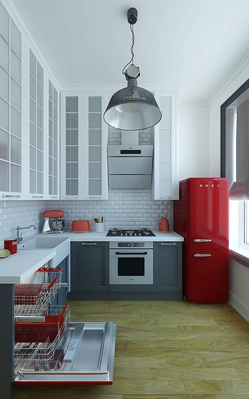 Октябрьская набережная: Кухни в . Автор – Дарья Баранович Дизайн Интерьера