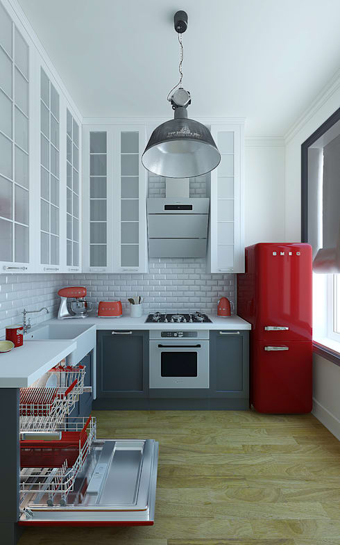Projekty,  Kuchnia zaprojektowane przez Дарья Баранович Дизайн Интерьера