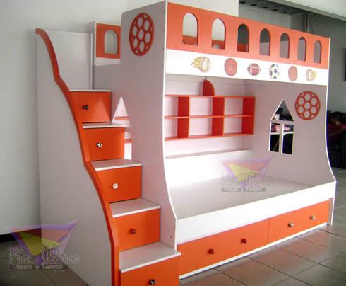 varonil y divertida litera para niños : Recámaras de estilo moderno por camas y literas infantiles kids world