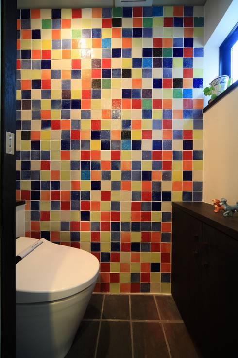 オリジナルタイル: MA設計室が手掛けた浴室です。