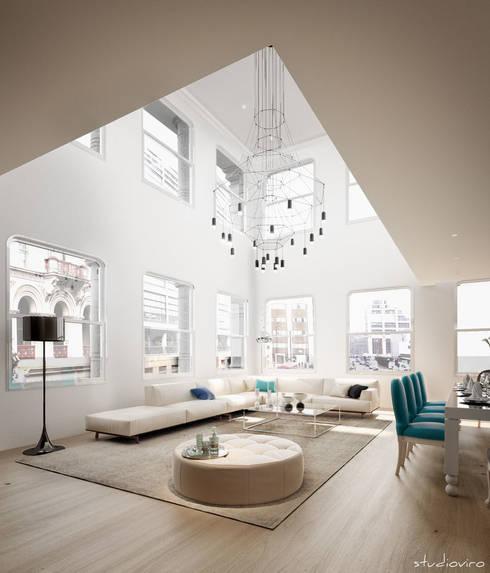 Salas de estar modernas por studioviro