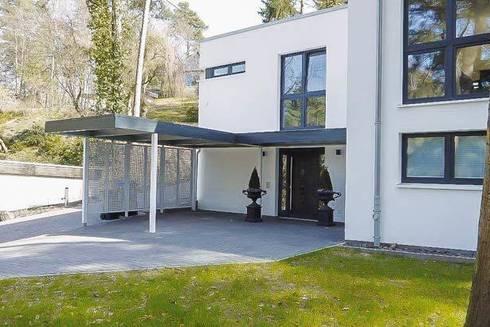 Eingangsüberdachung schöne carports mit tollem design by esb fertiggaragen und