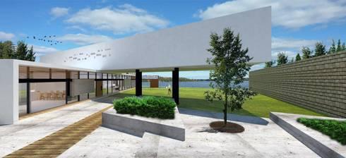Fachada Norte: Casas de estilo moderno por Arquitectura Libre