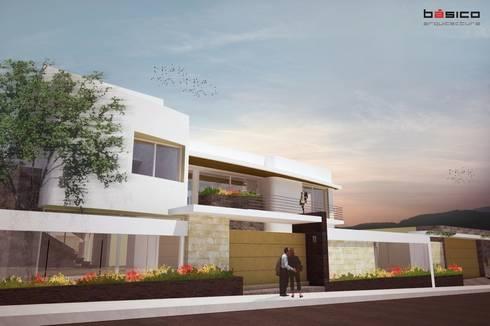 Casa_RT_Fachada: Casas de estilo moderno por Básico Arquitectura