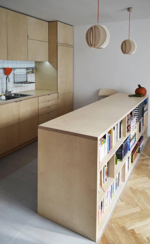 OŚWIETLENIE Z DREWNA -LAMPY PAPOULA : styl , w kategorii Kuchnia zaprojektowany przez SEAN