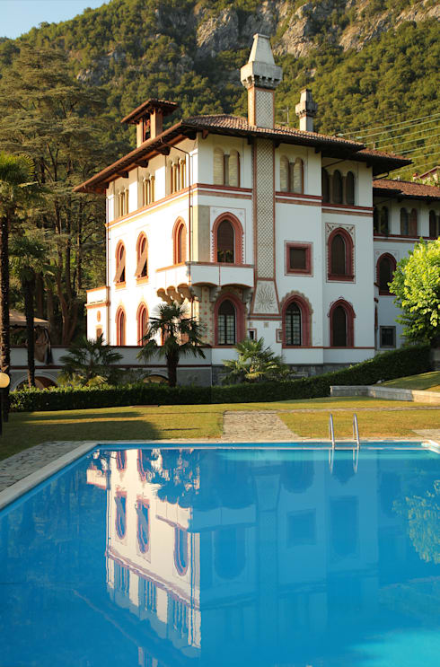 la villa: Giardino in stile  di isabella maruti architetto