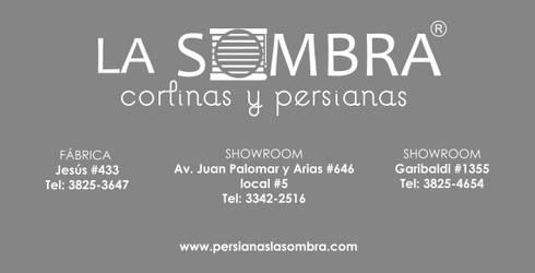 UBICACIONES: Oficinas y tiendas de estilo  por Persianas La Sombra
