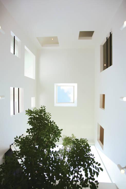 各居室と開口で繋がる吹抜け空間: スターディ・スタイル一級建築士事務所が手掛けた窓です。
