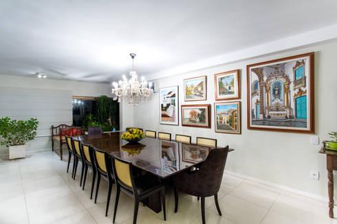 Mesa de Jantar: Salas de jantar modernas por Bruno Sgrillo Arquitetura