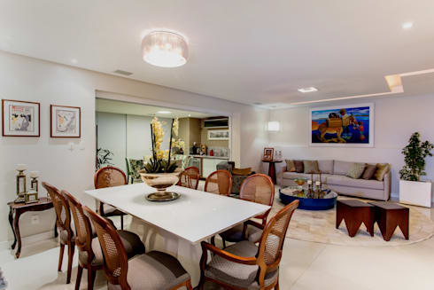 Sala de Estar e Jantar: Salas de estar modernas por Bruno Sgrillo Arquitetura