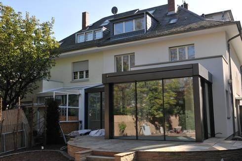 anbau glashaus ab exklusives doppelhaus von metallbau beilmann gmbh homify. Black Bedroom Furniture Sets. Home Design Ideas