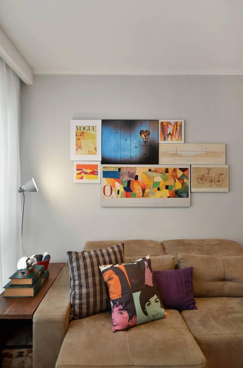 Apartamento RM : Salas de estar modernas por CR Arquitetura&paisagismo