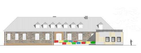 """""""Goldstück"""" – Kindergarten in Wuppertal, Energetische Sanierung einer Kindertagesstätte :   von insa4 ingenieure  sachverständige  architekten"""