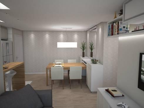 Projeto de Interiores Vila Fanny: Salas de jantar modernas por Daarna Arquitetura & Interiores