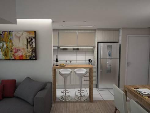 Projeto de Interiores Vila Fanny: Cozinhas modernas por Daarna Arquitetura & Interiores