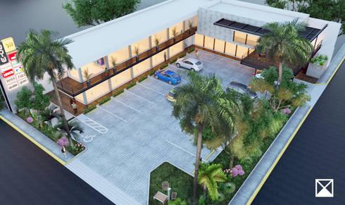 COMPLEJO PLACITA 20-3: Jardines de estilo moderno por ANGOLO-grado arquitectónico