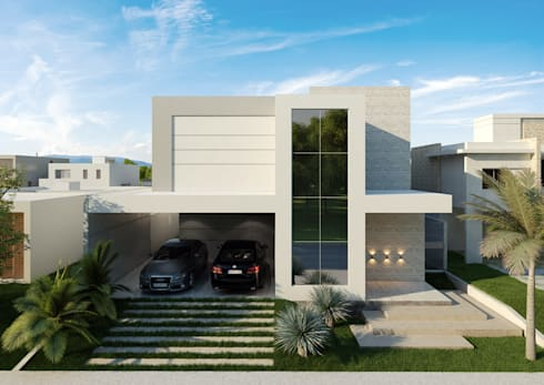 Fachada Principal: Casas modernas por CR Arquitetura