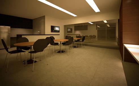 URBAN 320: Casas modernas por MeiaUm Arquitetos