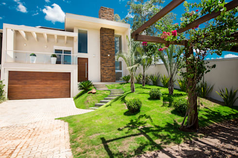 fachada: Casas modernas por Deise Soares Estúdio de Arquitetura