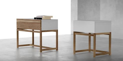 Mesas de luz contemporaneas: Dormitorios de estilo moderno por Forma muebles